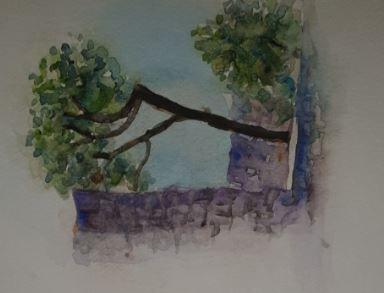 seaside tree - happy art