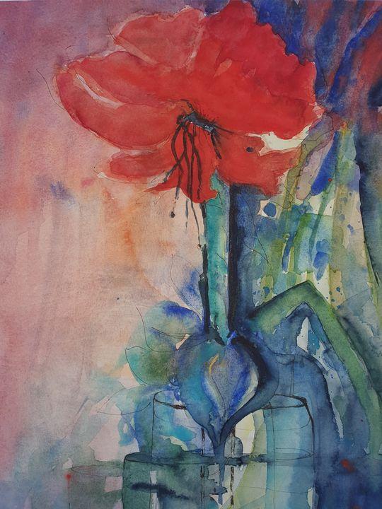 poppy flower - happy art