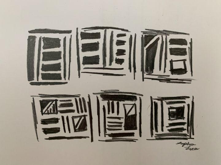 Scribble squares - Sophia Luem