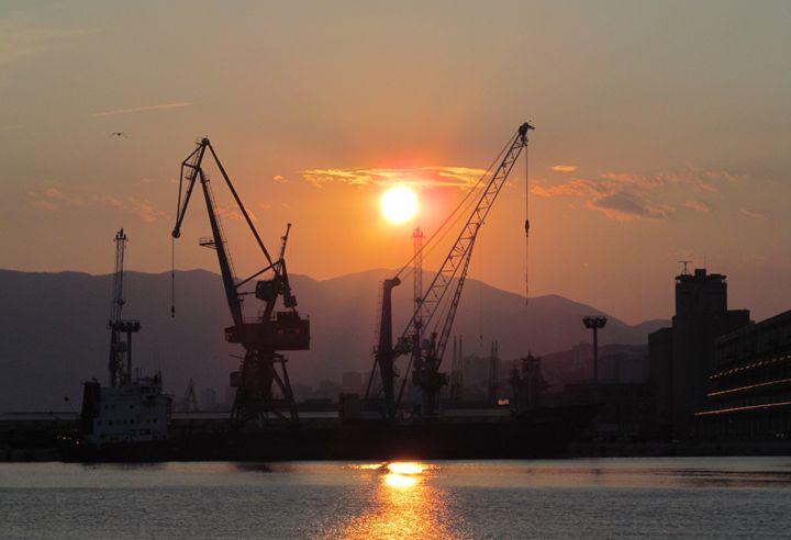 Rijeka port sunset - Dijana Galjanic