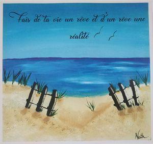 La mer avec phrase Mantra