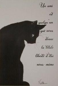 Le chat noir avec Mantra