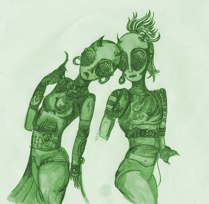 Sexy Pop/Rock Duo from Zeta Reticuli - Pink Eye