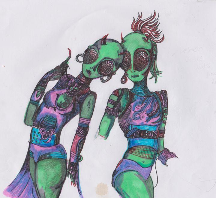 Reptilian aliens - Pink Eye