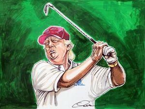 Donald Trump Tees Off