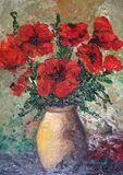 Amapolas - original oil on canvas