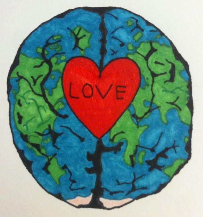 Love, Mind, Earth - Soorena's Art Shop