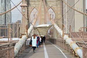 Walk over Brooklyn Bridge