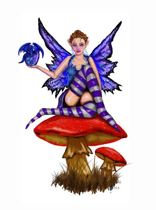 Jezebel Fairy with Baby Dragon - EnvyKat