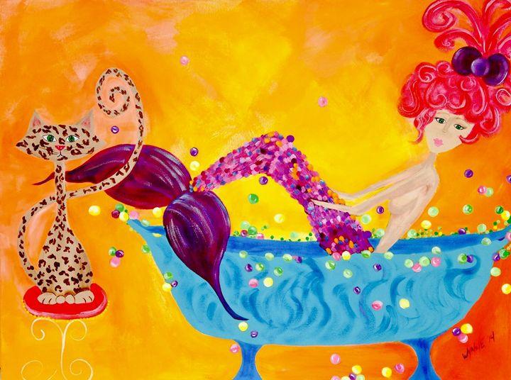 Splish Splash! - Martha Wynne Mermaid artist