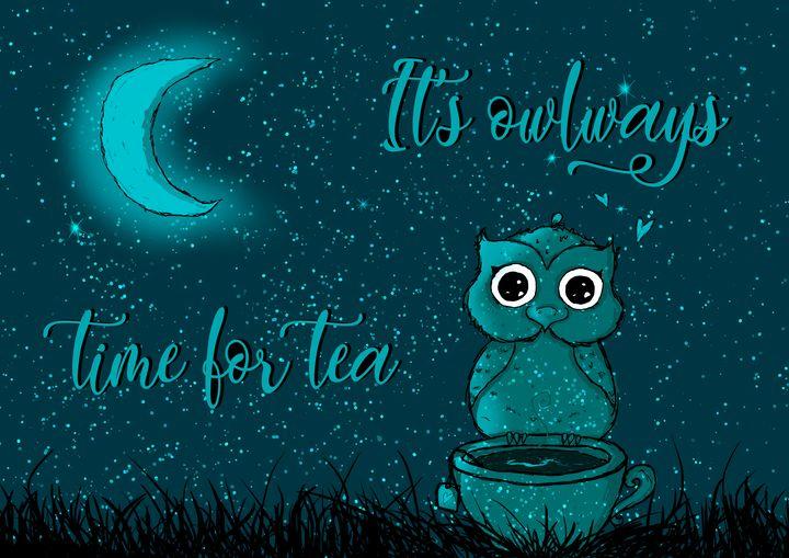 It's owlways time for tea - PotatoDesigns
