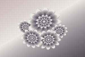 Silver petals bouquet