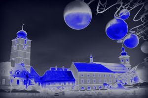 Blue Christmas night