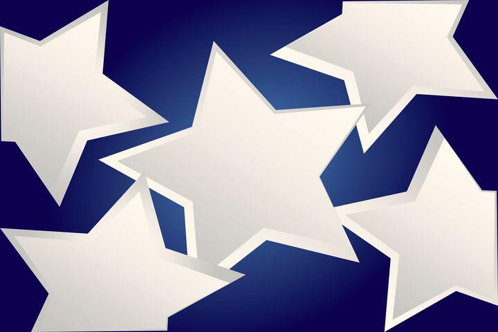 Five white stars - feiermar