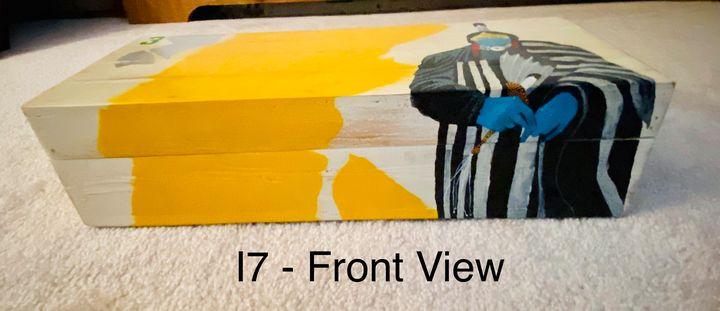 Painted wood box - Louis DeMayo