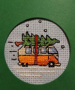 Cross-stitch v-dub xmas tree