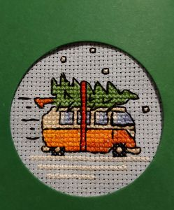 Cross-stitch v-dub xmas tree - Natural necessities