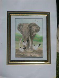 Storming elephant