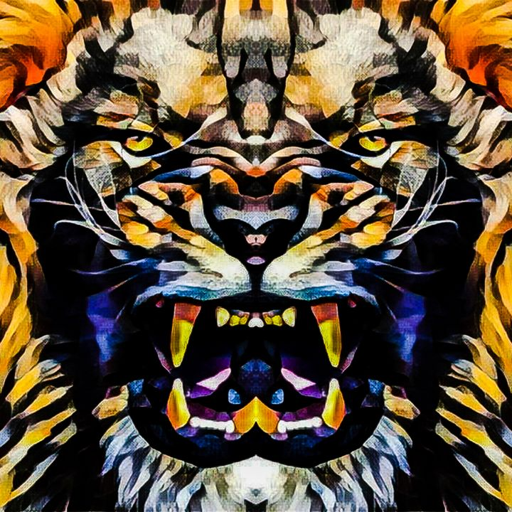 Full Face Angry Lion - Mountain West Graphics