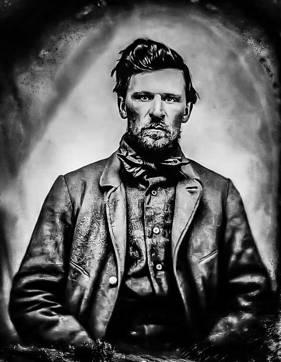 Young Wyatt Earp digitally redone - Mountain West Graphics