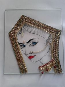 Glass Painting with decoration