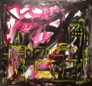 Cityscape Abstract Painting Study II