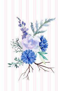 Blue, Green & Purple Flowers