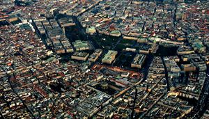 Vienna from the aircraft