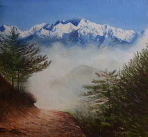 A glimpse of Mt Kanchenjunga