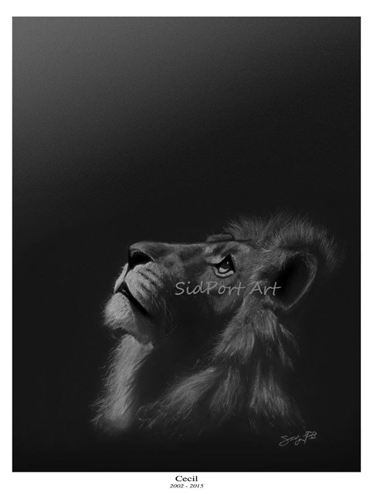Cecil the Lion (unsigned) - SidPort Art