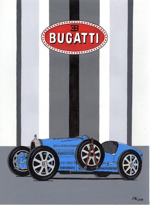 Bugatti Type 35 - Paul's Automobile Art ( Paul Cockram )