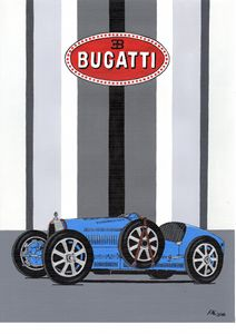 Bugatti Type 35 - Paul's Automobile Art ( Paul Cockram )