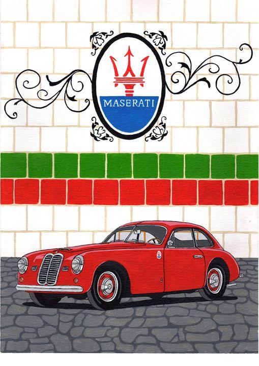Maserati A6 1500GT - Paul's Automobile Art ( Paul Cockram )