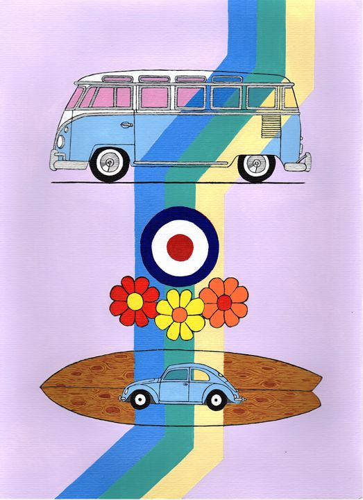VW Camper - Paul's Automobile Art ( Paul Cockram )