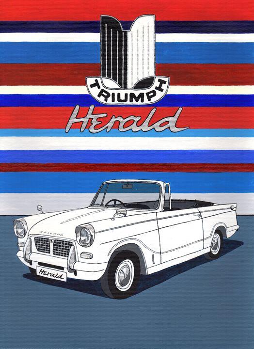 Triumph Herald - Paul's Automobile Art ( Paul Cockram )