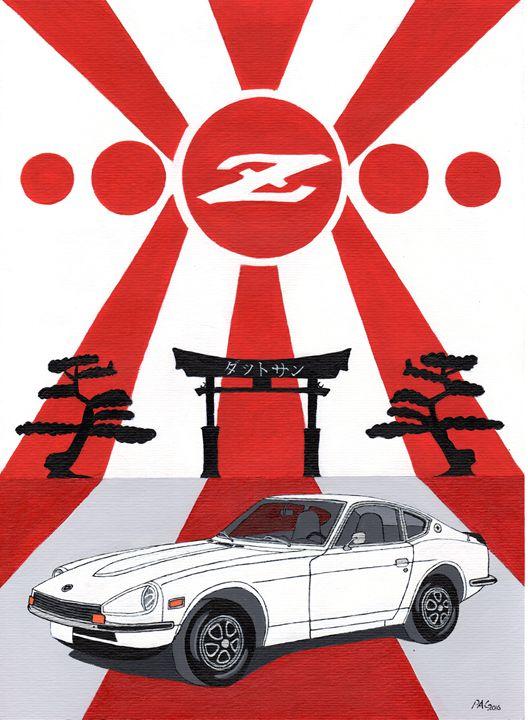 Datsun 240z - Paul's Automobile Art ( Paul Cockram )
