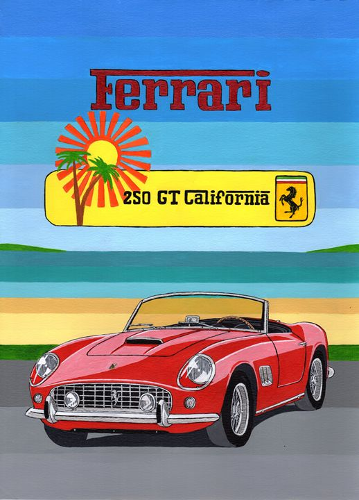 Ferrari 250 GT California - Paul's Automobile Art ( Paul Cockram )