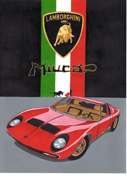 Lamborghini Muira - Paul's Automobile Art ( Paul Cockram )