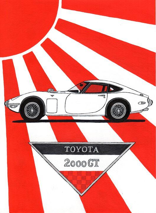 Toyota 2000GT - Paul's Automobile Art ( Paul Cockram )
