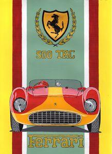 Ferrari 500 TRC - Paul's Automobile Art ( Paul Cockram )