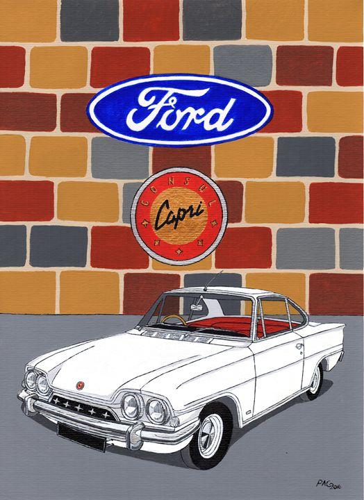 Ford Consul Capri - Paul's Automobile Art ( Paul Cockram )