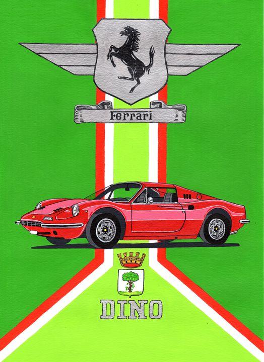 Ferrari Dino - Paul's Automobile Art ( Paul Cockram )