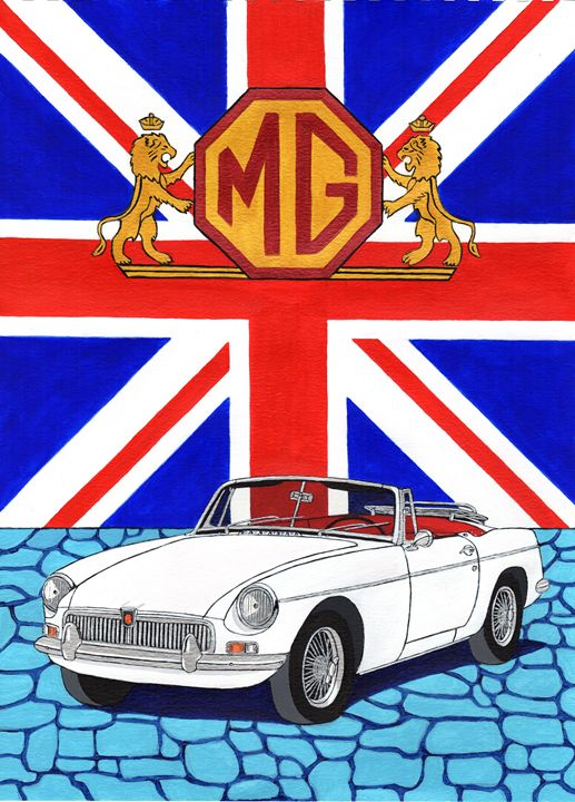 MGB - Paul's Automobile Art ( Paul Cockram )