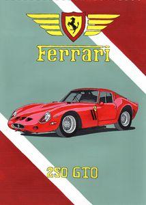 Ferrari 250 GTO - Paul's Automobile Art ( Paul Cockram )