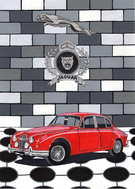 Jaguar MKII - Paul's Automobile Art ( Paul Cockram )