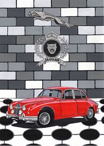 Jaguar MKII - Paul's Automobile Art ( Paul Cockram )
