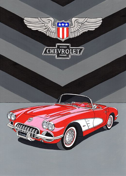 Chevrolet Corvette - Paul's Automobile Art ( Paul Cockram )