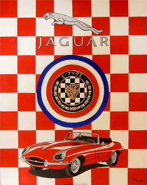 Jaguar E-Type - Paul's Automobile Art ( Paul Cockram )