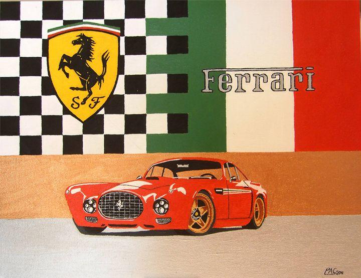 Ferrari F340 Competizione - Paul's Automobile Art ( Paul Cockram )