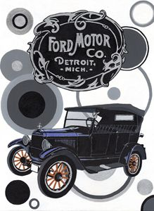 Ford Model T Tourer - Paul's Automobile Art ( Paul Cockram )